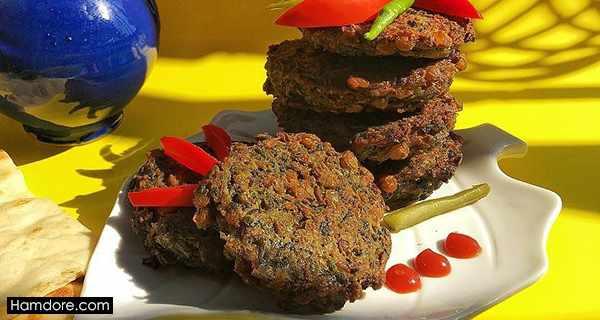 کوکو عدس,koo koo adas,طرز تهیه کوکو عدس,دستور پخت کوکو عدس,;,;, UNS