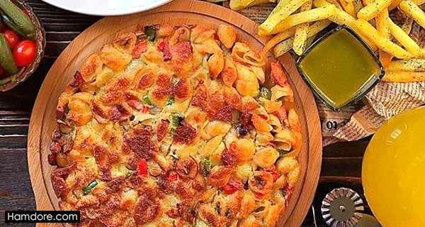 کوکو ماکارونی,koo koo makaroni,طرز تهیه کوکو ماکارونی,دستور پخت کوکو ماکارونی