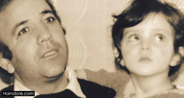 Leila Otadi,لیلا اوتادی و پدرش,عکس کودکی لیلا اوتادی