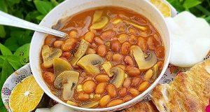 آموزش طرز تهیه خوراک لوبیا چیتی و اصول خوراک لوبیا با قارچ خوشمزه