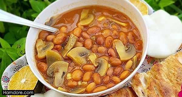 خوراک لوبیا چیتی, o,vh; g,fdh ]djd ,طرز تهیه خوراک لوبیا چیتی,دستور پخت خوراک لوبیا چیتی, khorak loobia chiti