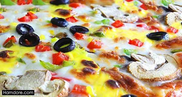 پیتزا مخلوط, pitza makhloot ,طرز تهیه پیتزا مخلوط,دستور پخت پیتزا مخلوط, \djch log,x
