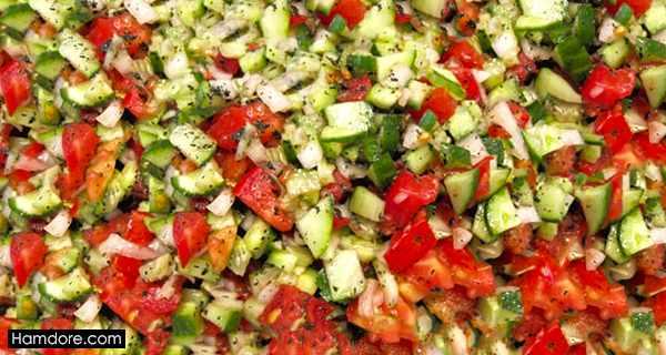 سالاد شیرازی, salad shirazi ,طرز تهیه سالاد شیرازی,دستور سالاد شیرازی, shghn advhcd
