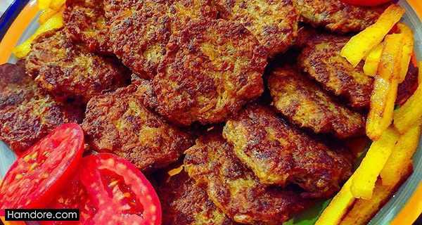 شامی کباب,طرز تهیه شامی کباب,دستور پخت شامی کباب