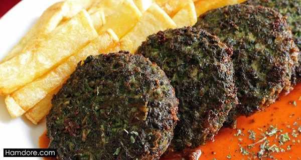 شامی سبزی,طرز تهیه شامی سبزی,دستور پخت شامی سبزی