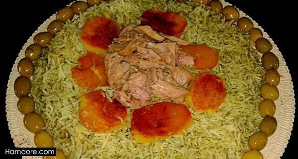 شوید پلو با تن ماهی,طرز تهیه شوید پلو با تن ماهی,دستور پخت شوید پلو با تن ماهی
