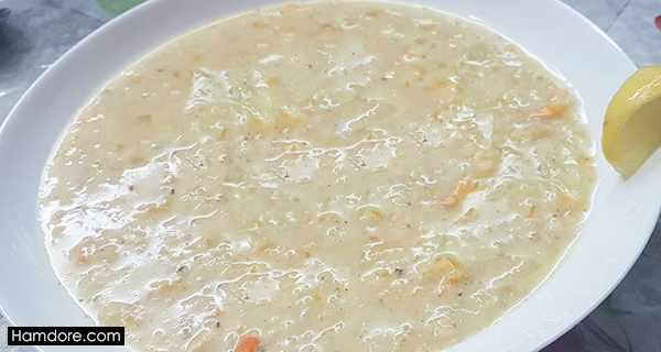 سوپ جو سفید, soup jo sefid ,طرز تهیه سوپ جو سفید,دستور پخت سوپ جو سفید
