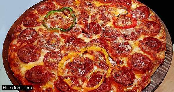 پیتزا پپرونی,طرز تهیه پیتزا پپرونی,دستور پخت پیتزا پپرونی
