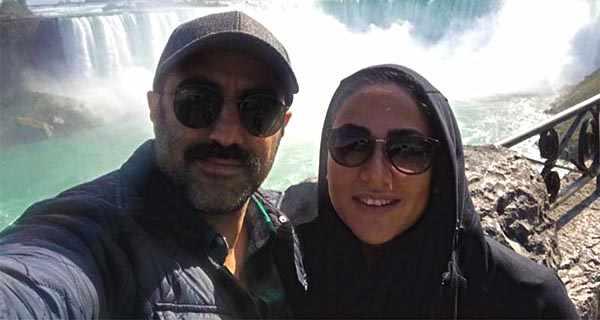 mohsen tanabande , محسن تنابنده و روشنک گلپا , محسن تنابنده و همسرش , محسن تنابنده و پسرش نامی