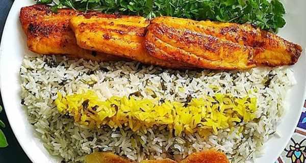 سبزی پلو با ماهی , طرز تهیه سبزی پلو با ماهی , دستور پخت سبزی پلو با ماهی , sfcd g fh lhid