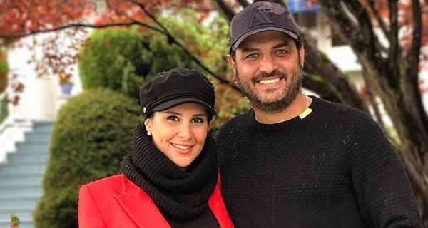 Sam Derakhshani , سام درخشانی و همسرش , عسل امیرپور زن سام درخشانی