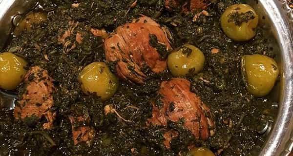 خورش گوجه سبز , طرز تهیه خورش گوجه سبز , دستور پخت خورش گوجه سبز
