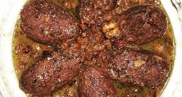 طرز تهیه هلو کباب کردی کاشانی , دستور پخت هلو کباب با رب انار , xvc jidi ig fhf