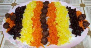 طرز تهیه ساطری پلو با گوشت خوشمزه خانگی غذای محلی خراسانی ها