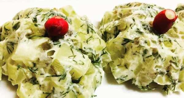 طرز تهیه سالاد سیب زمینی,سالاد سیب زمینی,سالاد سیب زمینی و شوید,shghn sdf cldkd , a,dn,salad sibzamini shevid